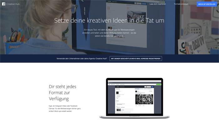 Facebook launcht Creative Hub